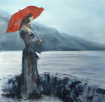 Gisèle Grana - The red umbrella