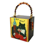 Cigar Box Purses - Kitty Got Wine-