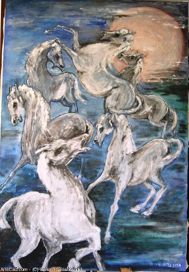 Artwork >> Baruch Neria-Kandel >> Horses and moon