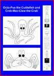 Asbjorn Lonvig - The Cuttlefish and the Crab color yourself poster - in English