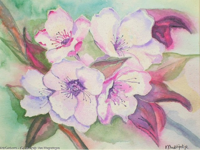 Artwork >> Martijntje Van Wageningen >> almond some bloom