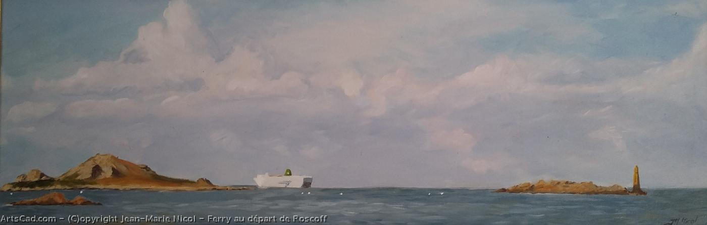 Artwork >> Jean-Marie Nicol >> Ferry at the beginning from roscoff