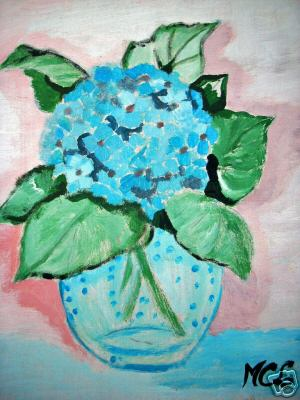 Artwork >> Marie Christine Legeay >> BLUE HYDRANGEA