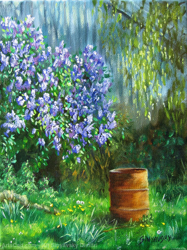 Artwork >> Sinyavsky Dimitri >> Les Lilas and barrel