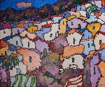 Russian Impressionism - Montenegrin open-air . An old Kotor .