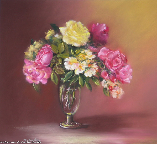 Artwork >> Cauchois Danielle >> Bouquet of Roses