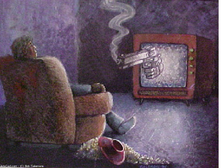 Artwork >> Bob Tielemans >> TV Violence