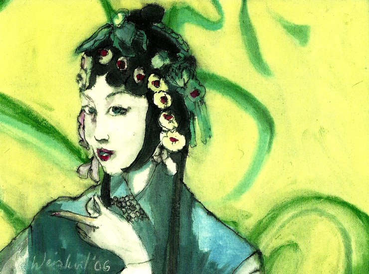 Artwork >> Harry Weisburd >> Chinese Opera Singer