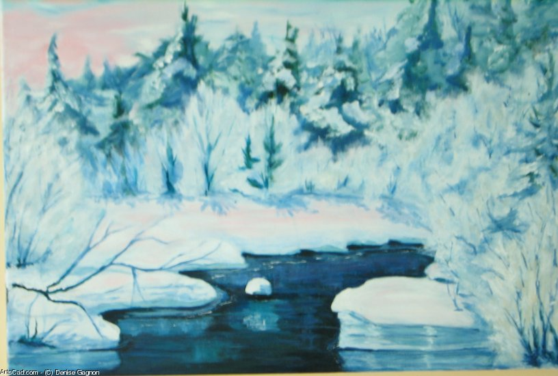 Artwork >> Denise Gagnon >> The River Blue