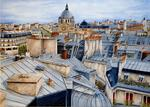 Marie-Claire Houmeau - Rooftops of The paris Church st augustine