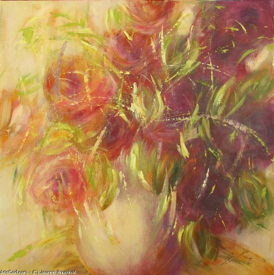 Artwork >> Jeanne Bournival >> Fickle flowers