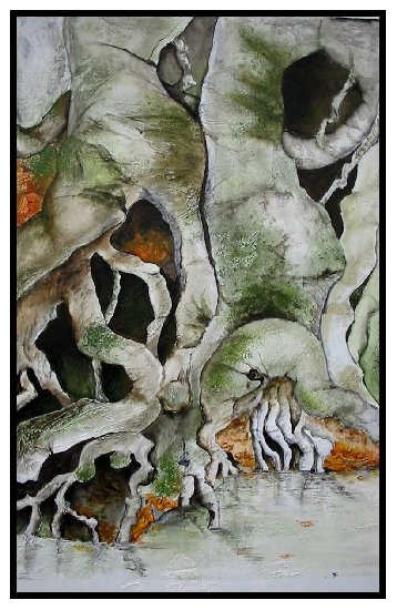 Artwork >> Ginette Doyen >> of roots  up and