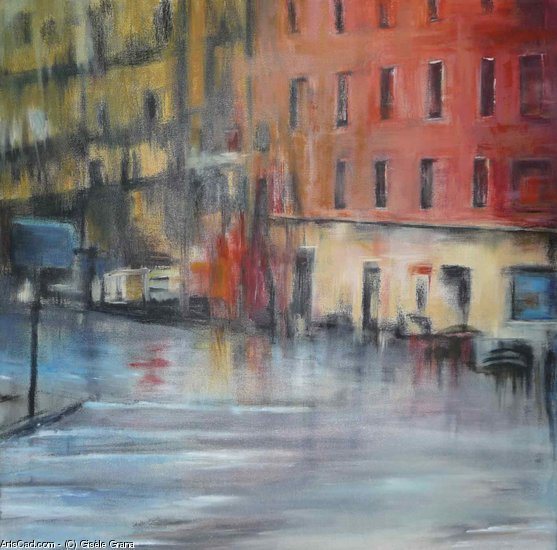 Artwork >> Gisèle Grana >> an evening from  rain