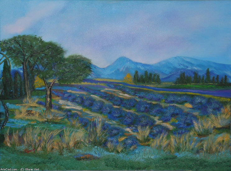 Artwork >> Eliane Vieil >> Lavender and wheat