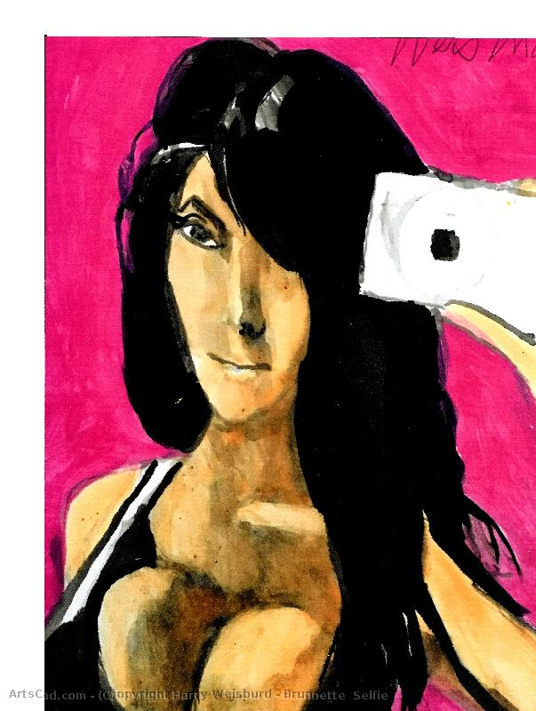 Artwork >> Harry Weisburd >> Brunnette  Selfie