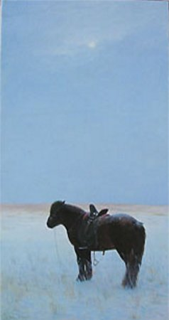 Artwork >> Chen Jiqun >> HORSE IN SNOWFIELD