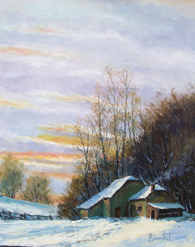 Artwork >> Lambot Jean-Marie >> Winter in Ardenne