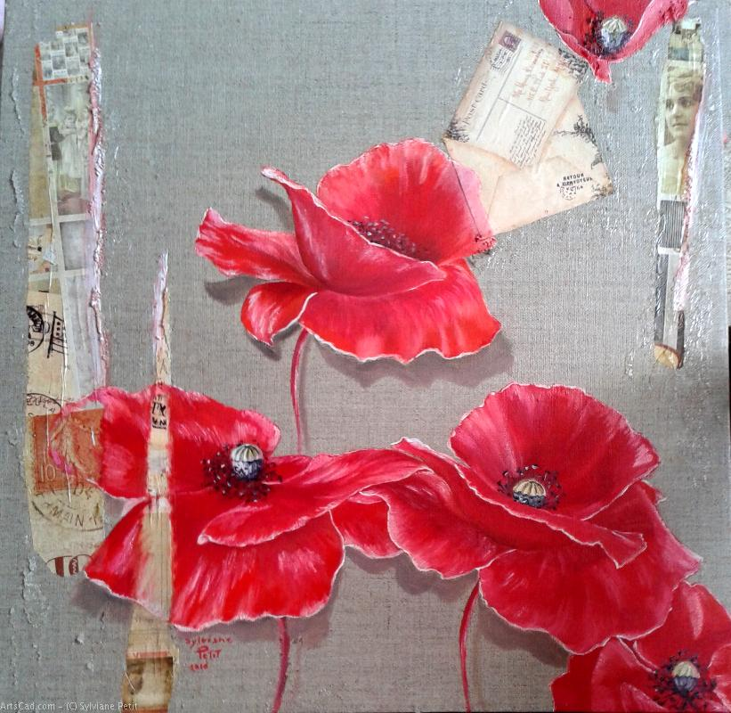 Artwork >> Sylviane Petit >> poppy - face