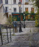 Marie-Claire Houmeau - The stairs montmartre The paris