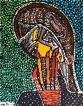 Mirit Ben-Nun - Hamsa hamsa against evil eye modern drawings israel art