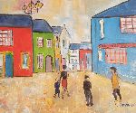 Michèle Devinante - walking at the  Town