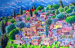 Raphael Perez - urban naive landscape paintings  by israeli painter raphael perez folk artist