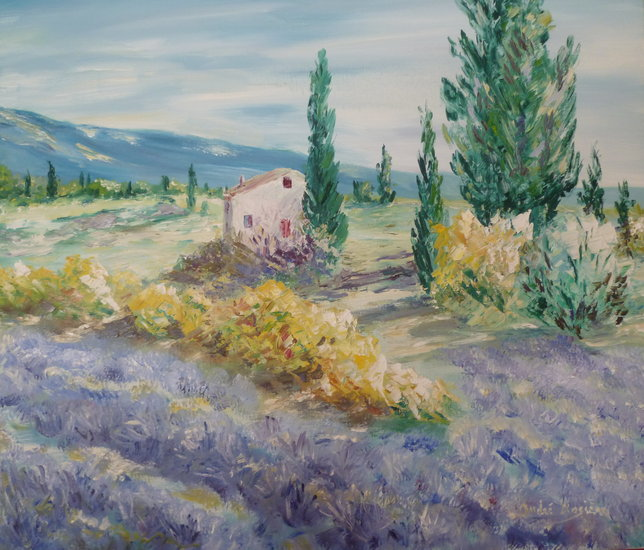 Artwork >> André Rosière >> In the Luberon