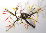 Sal Villano Wire Tree Sculpture - Bird Nest No.8  -  Wire Sculpture