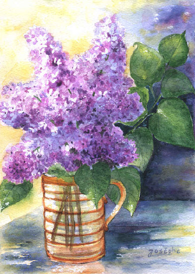 Artwork >> Josèphe Gravier >> color Lilac  fragrance  Lilac