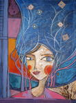 Catherine Suchocka - The Dream with blue  SOLD.