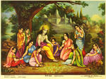Classical Indian Art Gallery - OLEOGRAPH PRINT by R.G. CHONKER