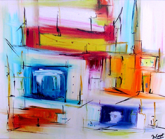 Artwork >> Muriel Cayet >> the city from  frozen