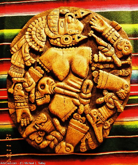 Artwork >> Michael L. Selley >> Coyolxauhqui (Aztec Moon Godess)