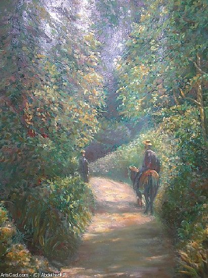 Artwork >> Abdelhadi F >> Path in the Woods