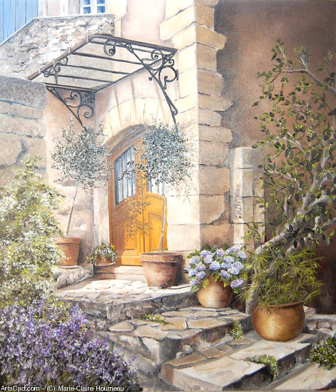 Artwork >> Marie-Claire Houmeau >> Door to Peyrolles in provence