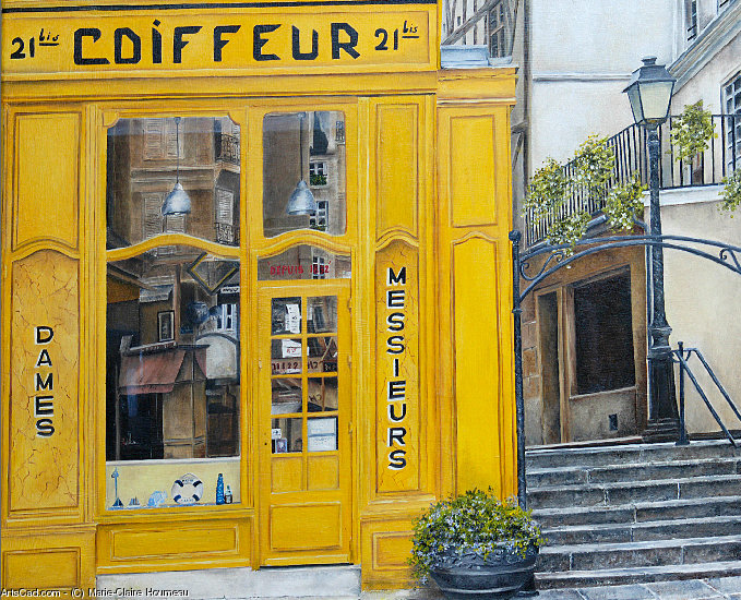 Artwork >> Marie-Claire Houmeau >> The Hairdresser