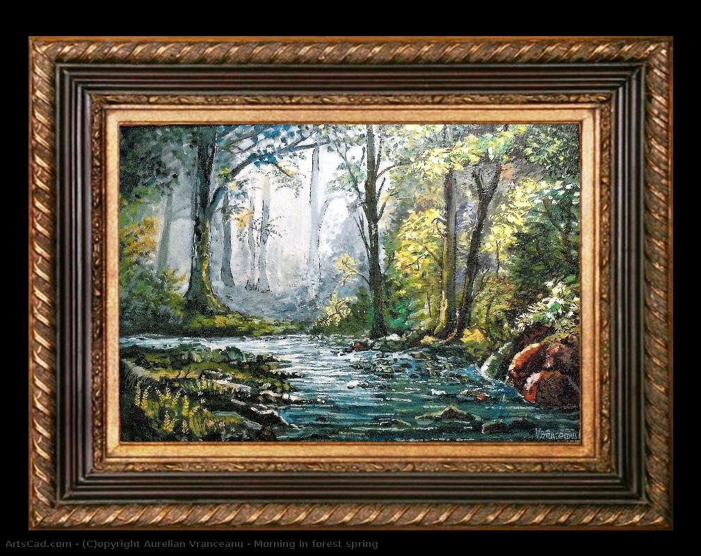 Art by Aurelian Vranceanu : Aurelian Vranceanu - Morning in forest spring