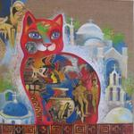 Oxana Zaika - cat Greek woman  SOLD.