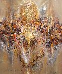 Ovidiu Kloska - VERY LARGE LIGHT ANGEL SPIRITUAL METAPHYSIC ONEIRC PAINTING BY ARTIST O KLOSKA