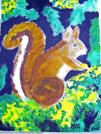 Artwork >> Marie Christine Legeay >> SQUIRREL
