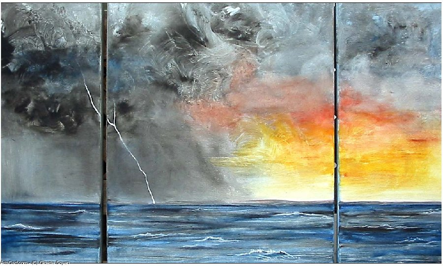 Artwork >> Ginette Doyen >> storm some Sea in