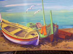 Artwork >> To Coullet >> boats at the  rest