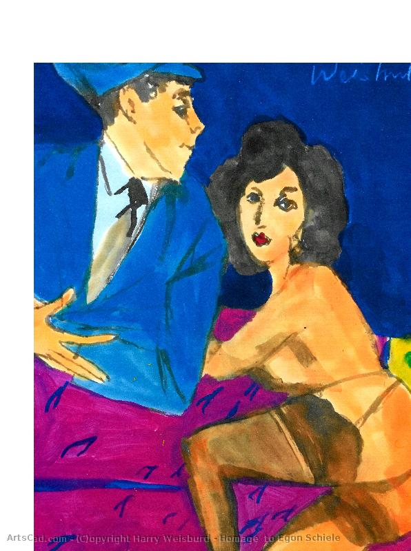 Artwork >> Harry Weisburd >> Homage  to Egon Schiele