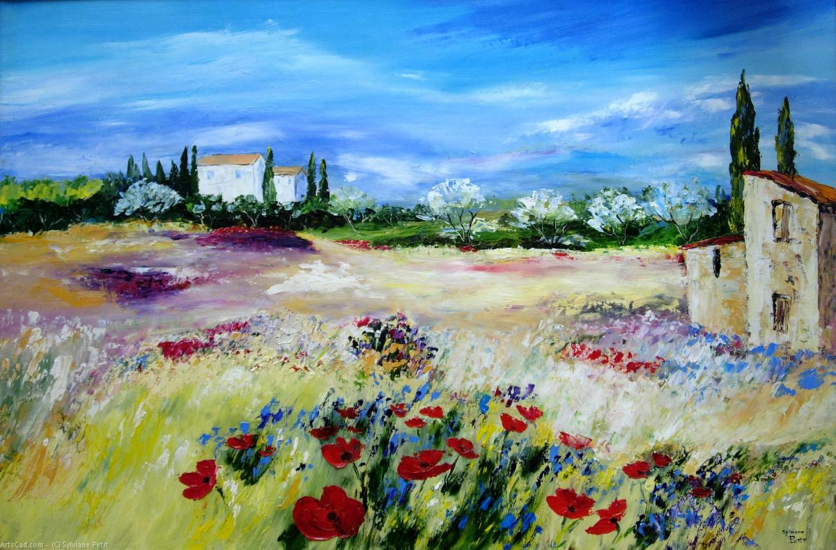 Artwork >> Sylviane Petit >> MAZET THE POPPIES