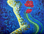 Luxo Fine Art - Abstract Figurative--Poppies Beauty 2