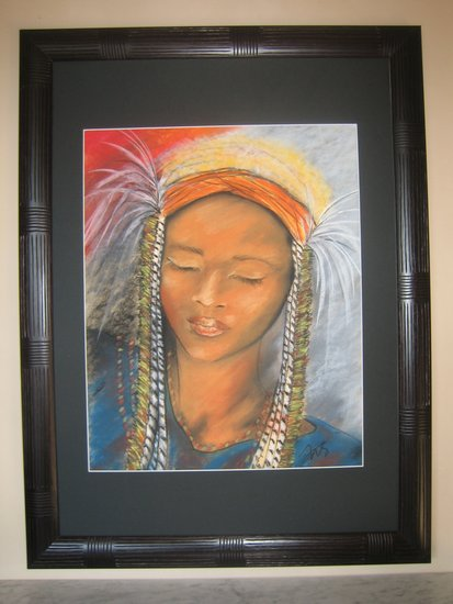 Artwork >> Geneviève Noique-Salesse >> girl fulani