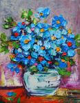 Mima Kostova - Blue Flowers