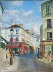 Jean-Louis Barthelemy - The paris - Montmartre , norvins street