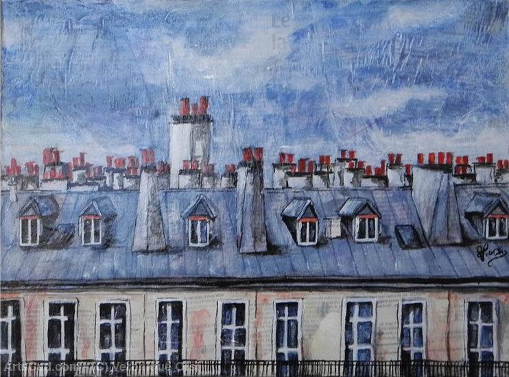 Artwork >> Veronique Orsi >> Roofs of Paris