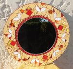Marie Christine Beaulande - MOSAIC MIRROR -Nuance orange-